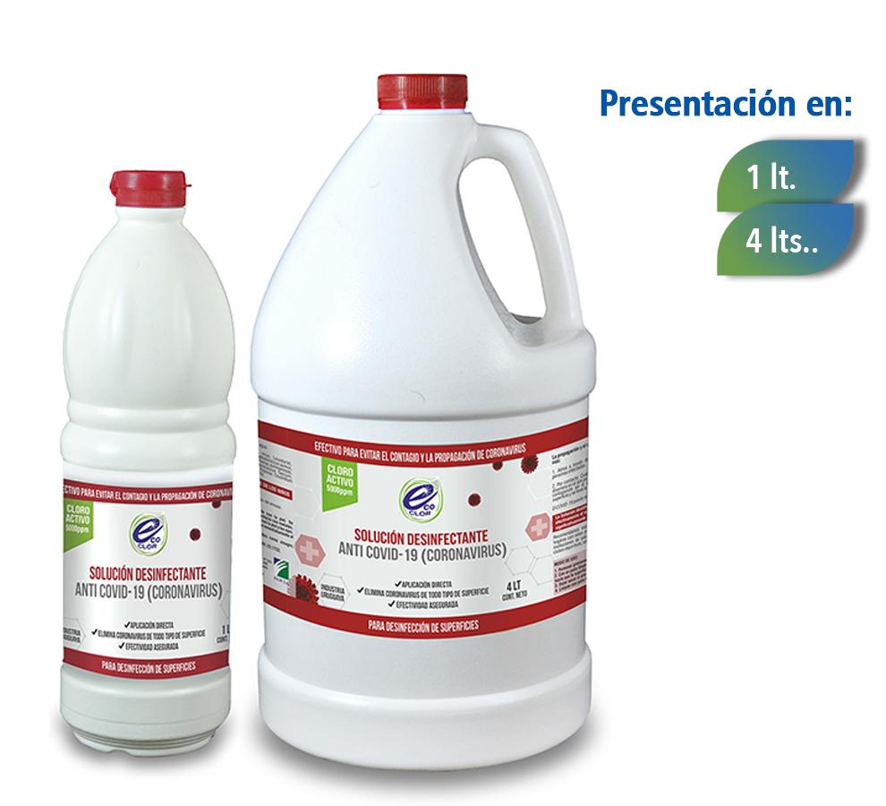 Solución Desinfectante Anti COVID-19 (Coronavirus)